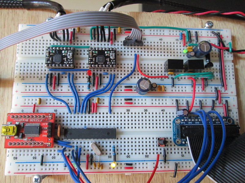 drawbot, breadboard