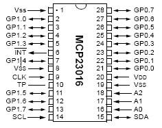 Dullbits, IO Expander, MCP23016